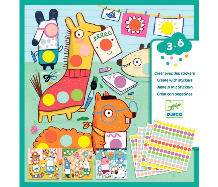 Crear con stickers - Animalitos