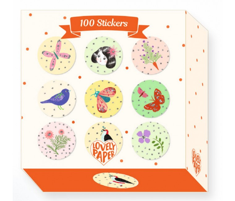 Lovely Paper - 100 Adhesivos Chic