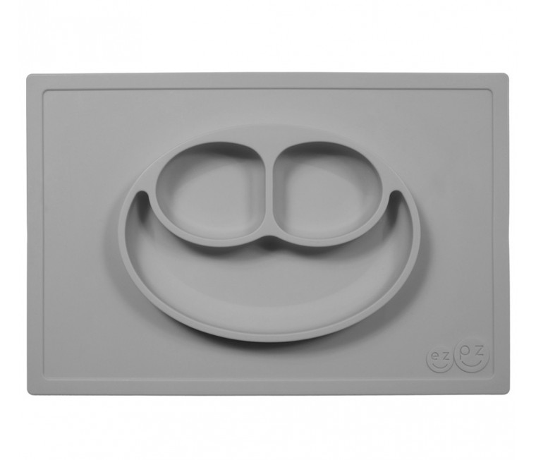 Plato de Silicona The Happy Mat - Grey