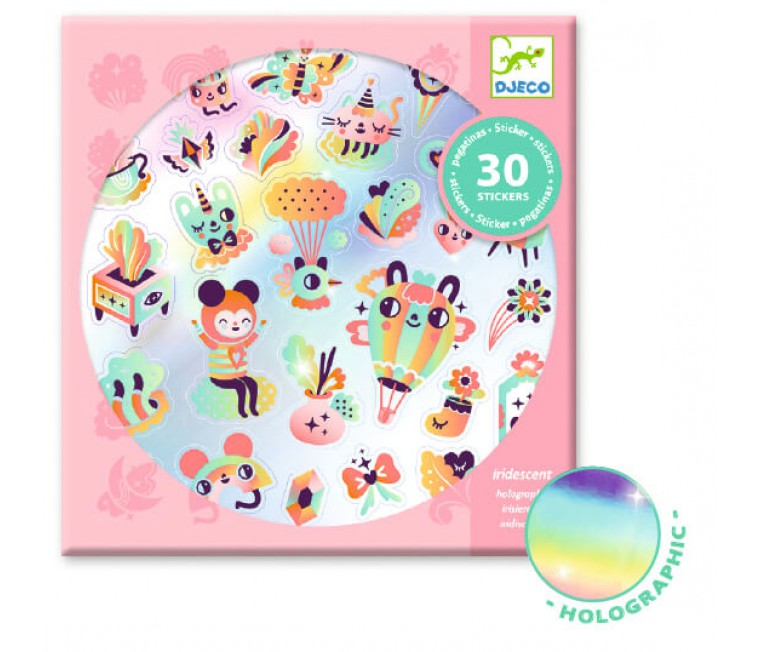 Stickers holográficos - Lovely Rainbow 30 uds.