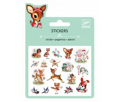 25 Stickers - Animales vintage