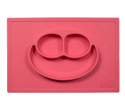 Plato de Silicona The Happy Mat - Coral