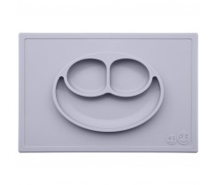 Plato de Silicona The Happy Mat - Pewter