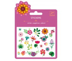 25 Stickers - Flores Tropicales
