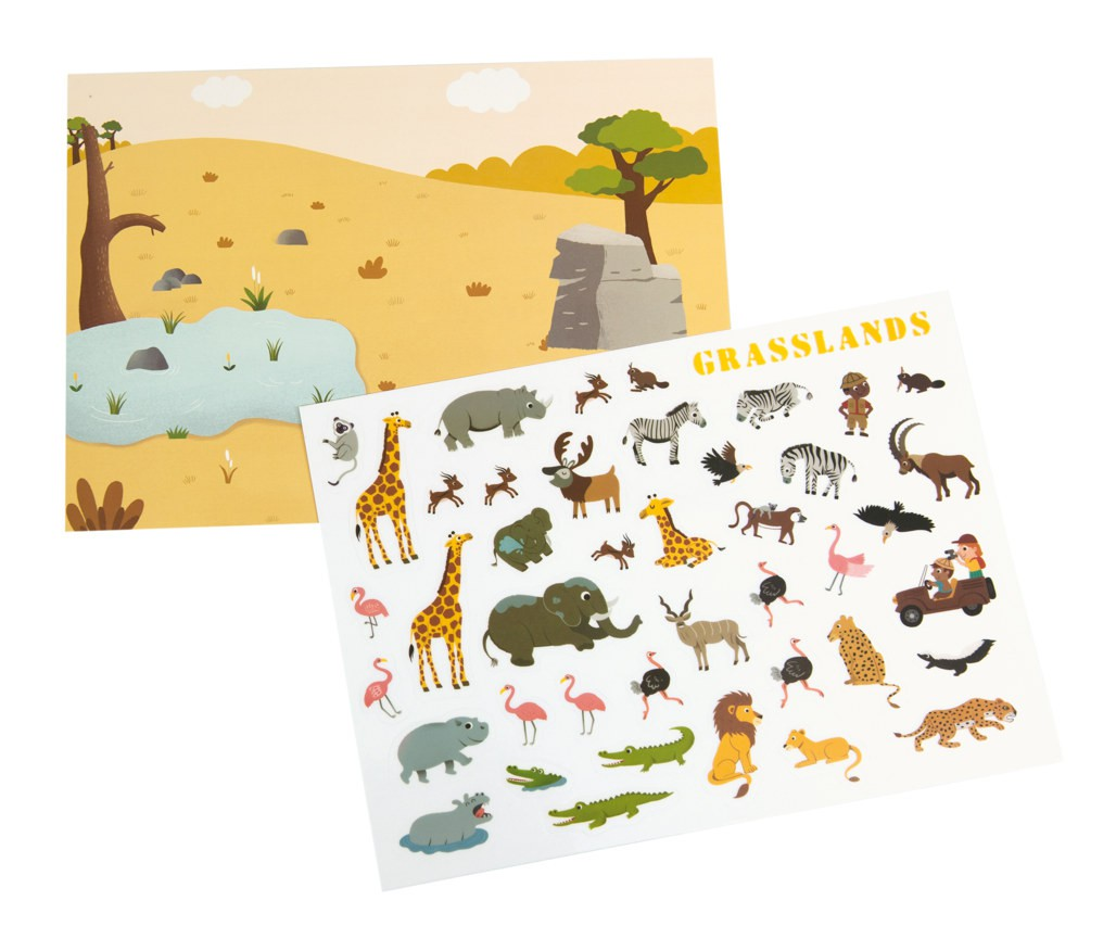 200 Stickers Reutilizables - Los Animales