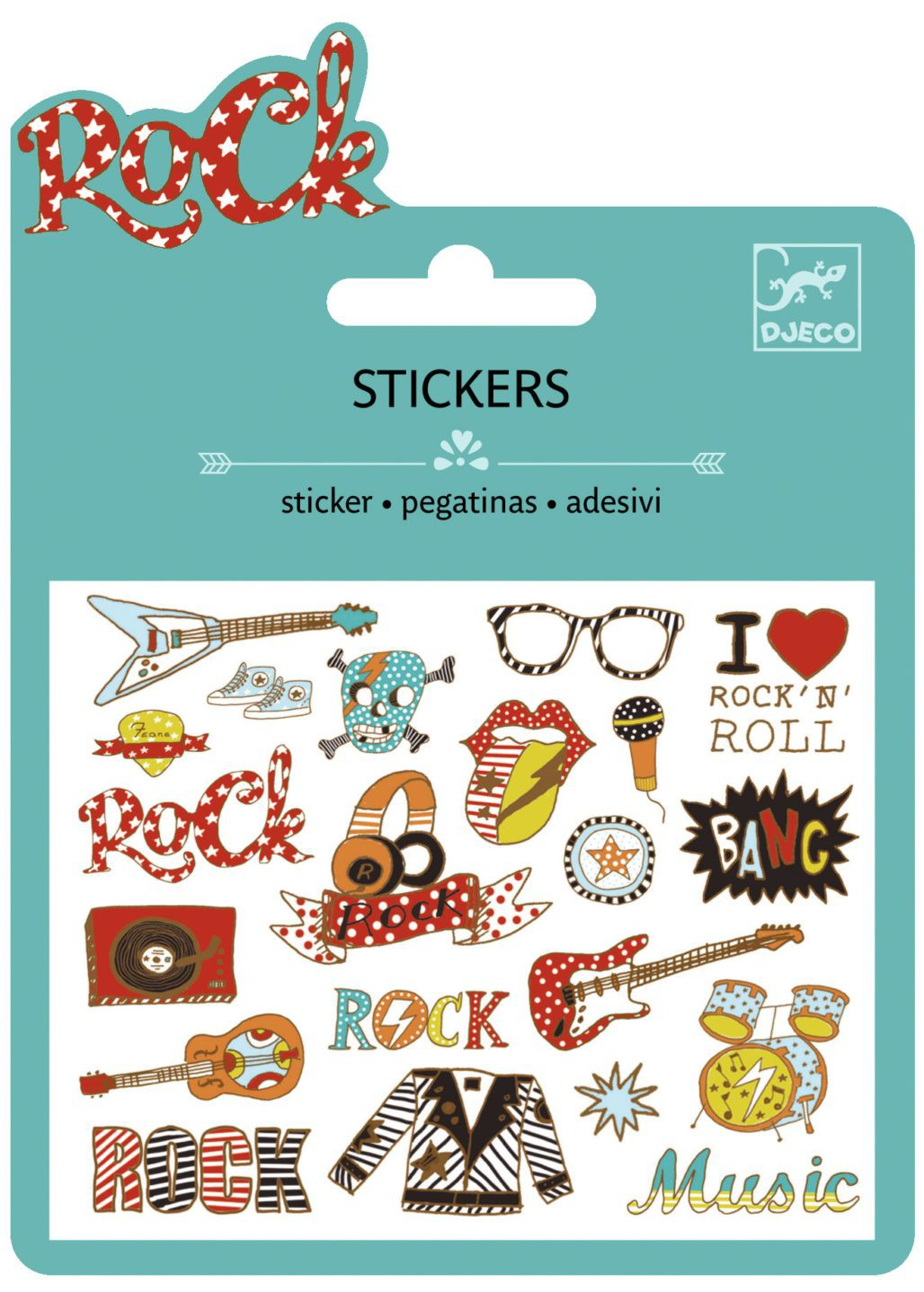 25 Stickers - Pop y Rock