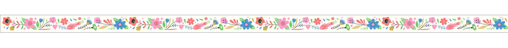 Cinta adhesiva Flores - Lovely paper