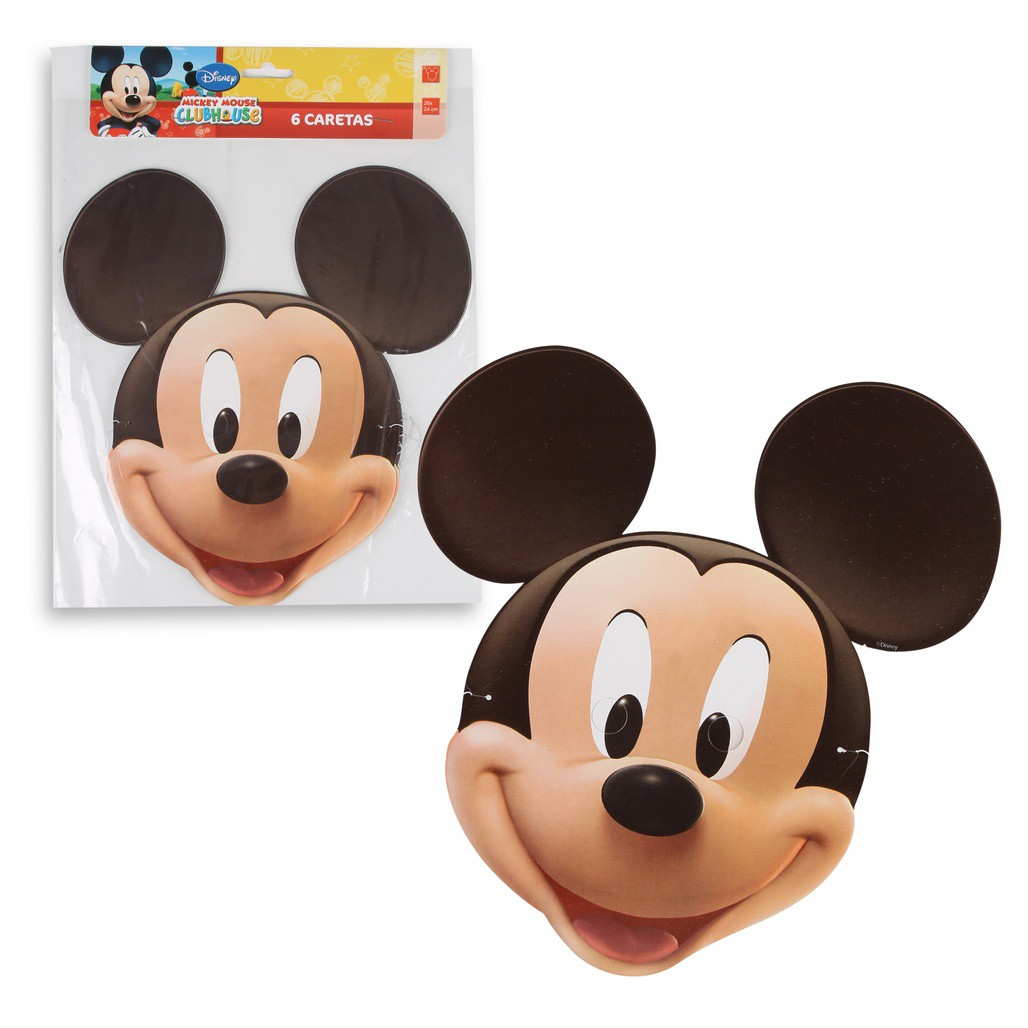 Mascara de Papel Mickey - 6 uni.