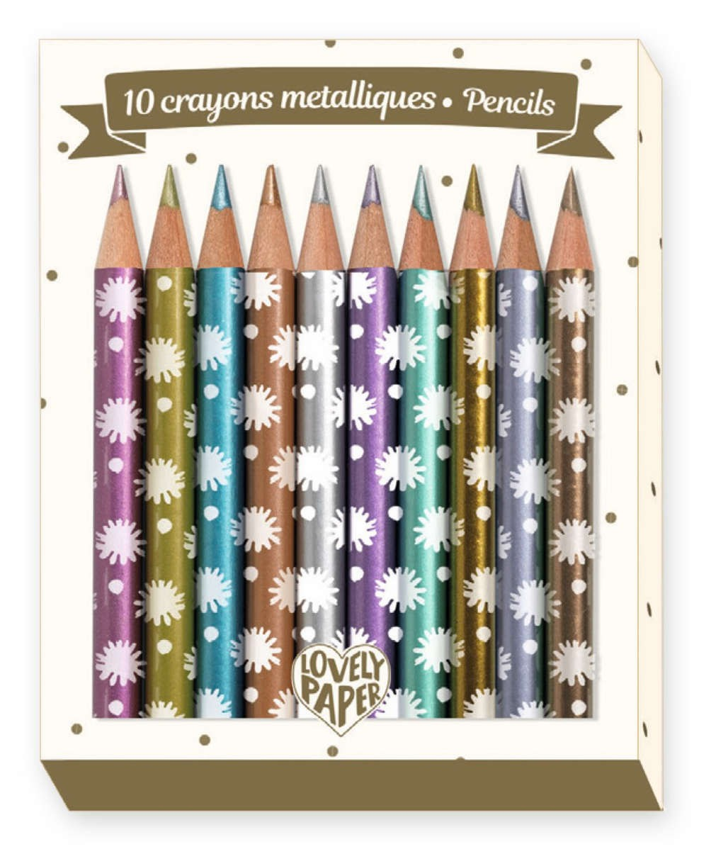 Lovely Paper - 10 Mini Lápices Chic