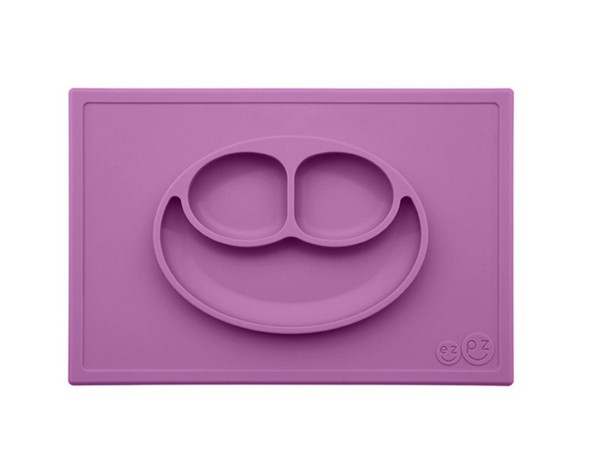 Plato de Silicona The Happy Mat - Purple
