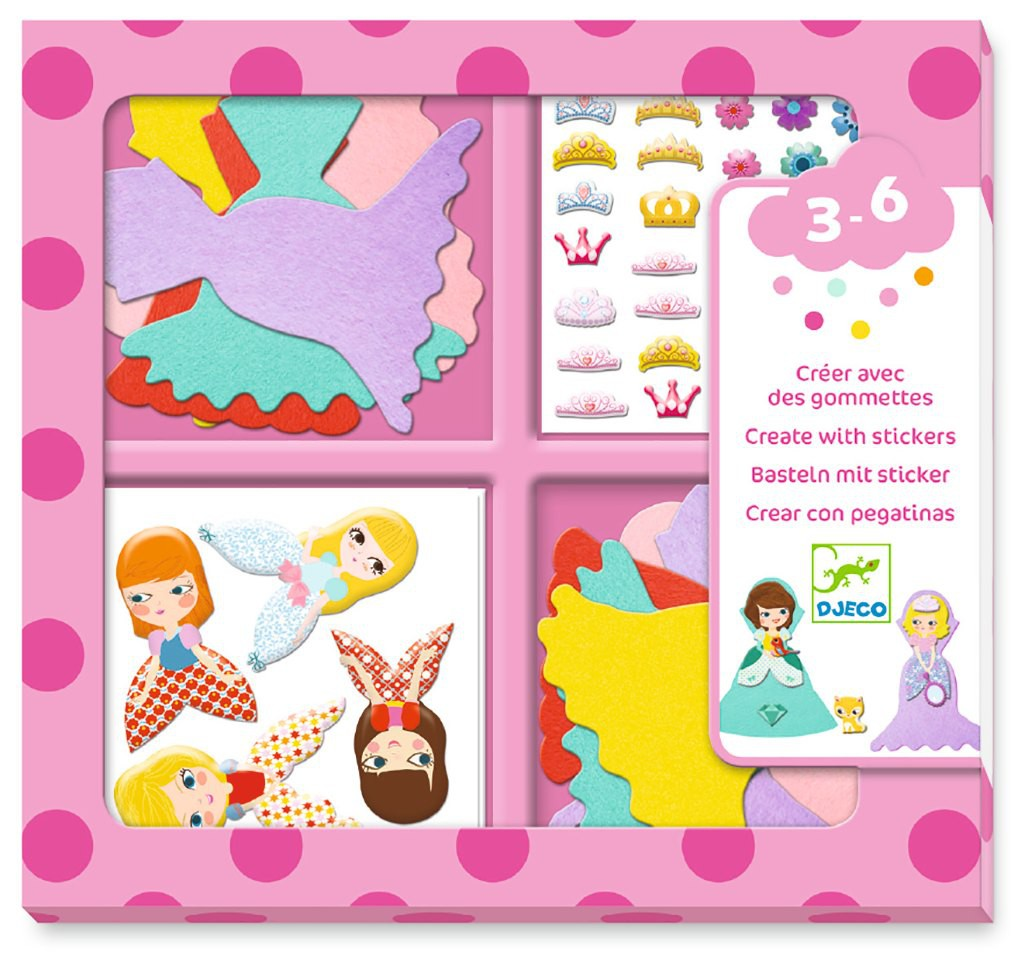 Crea con Stickers - Princesas