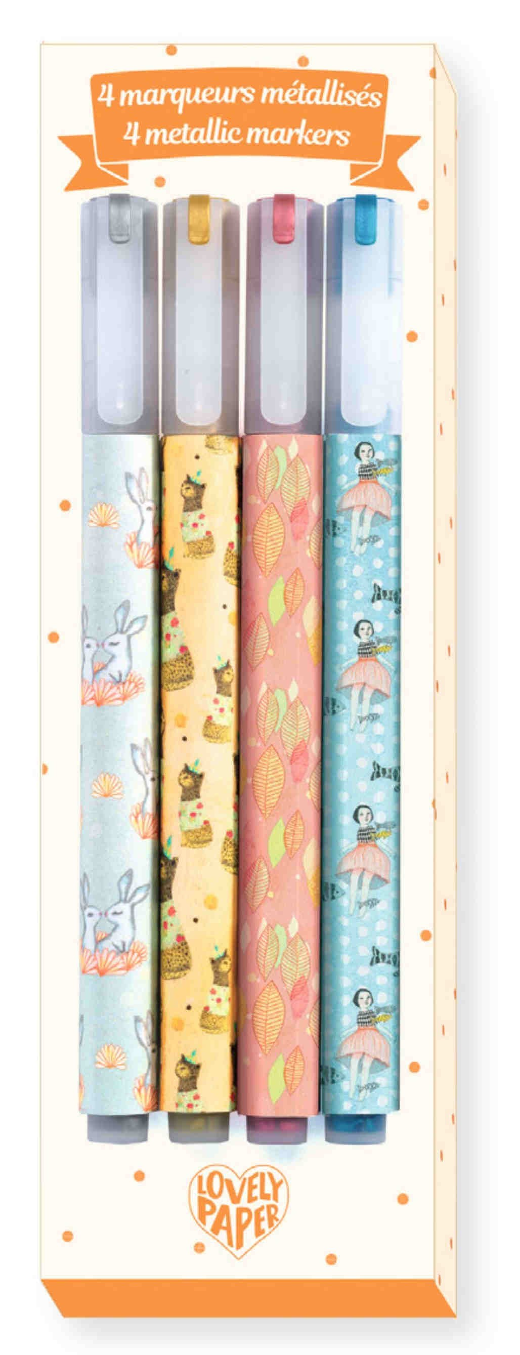 Lovely Paper - 4 Rotuladores Elodie