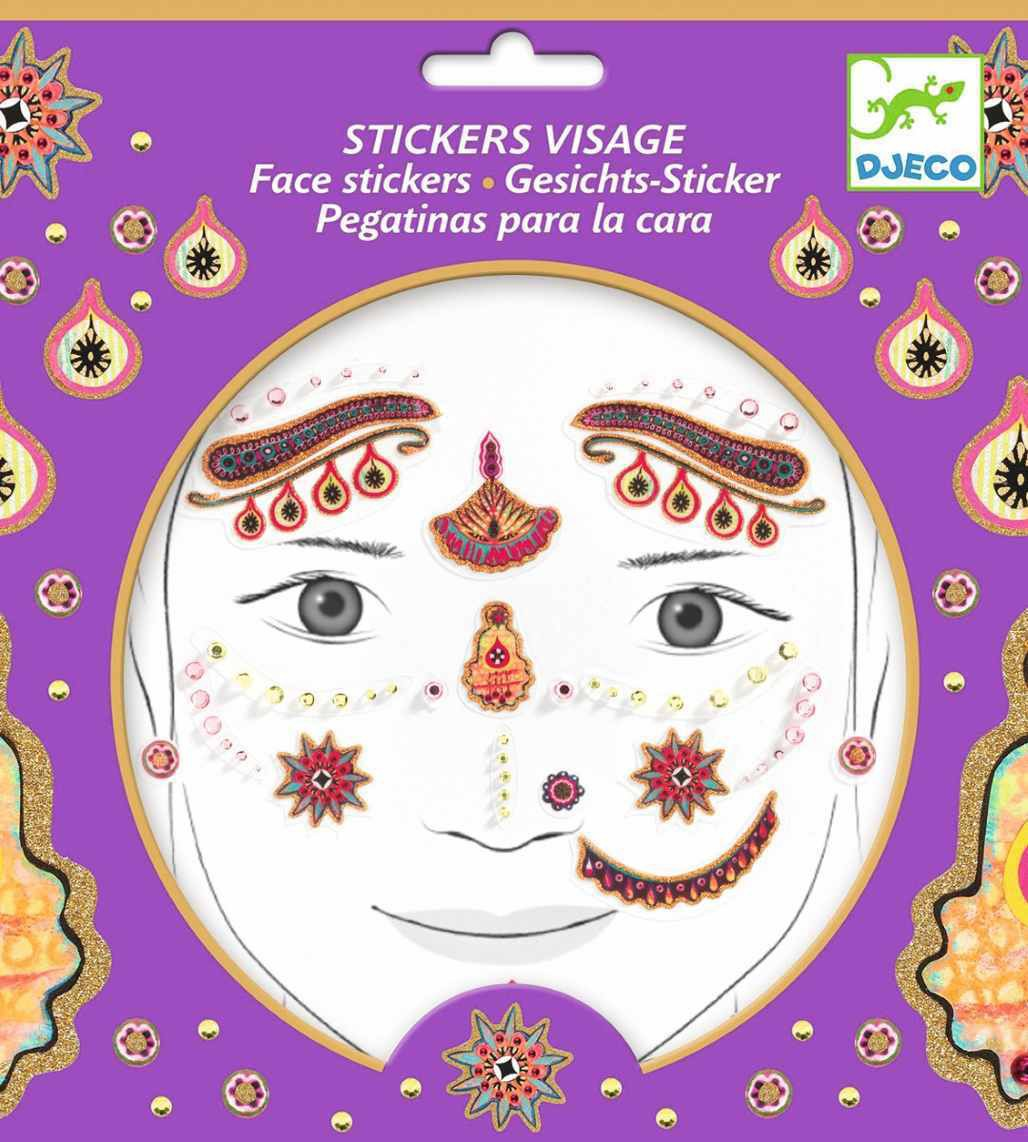 Stickers para la cara - Princesa India