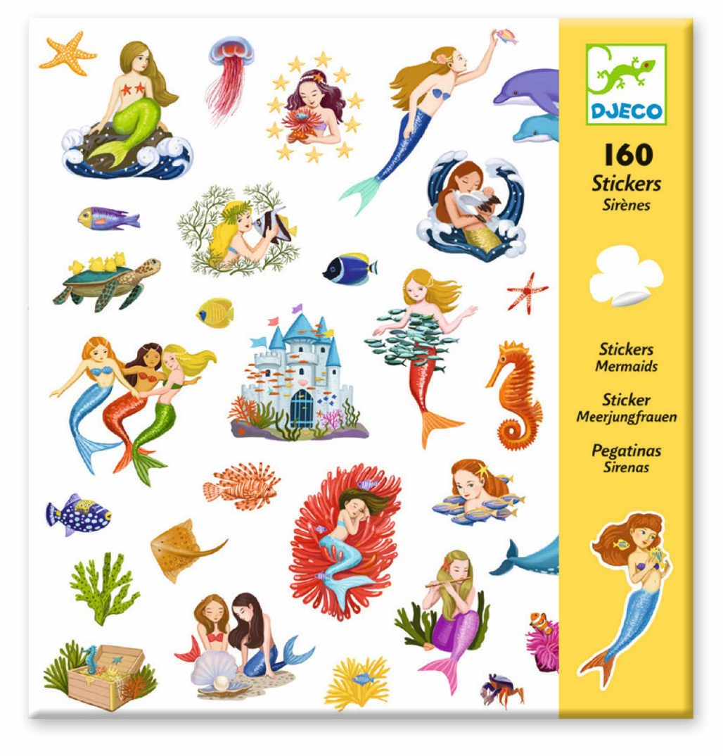 Stickers Sirenas - 160 uni.
