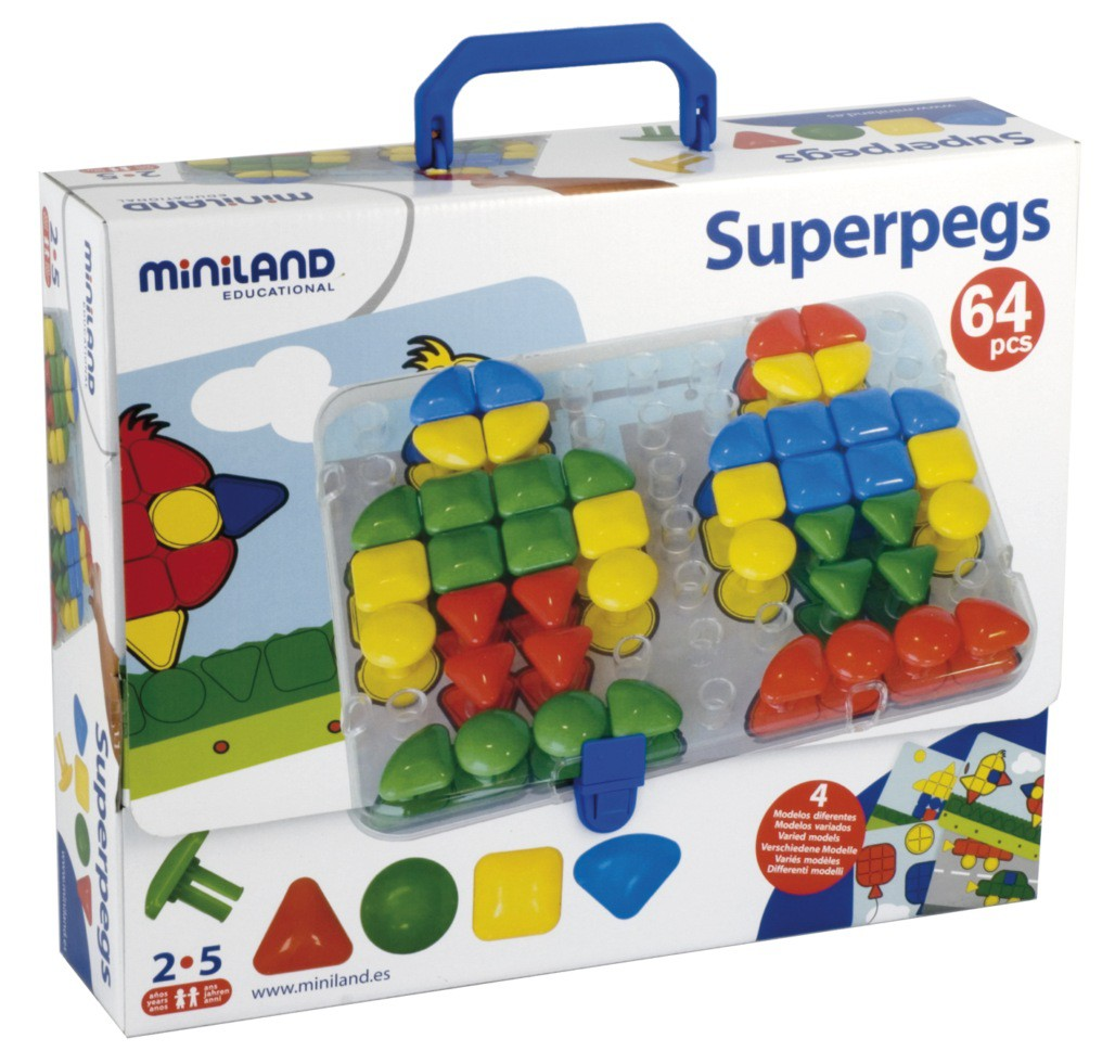 Superpegs Maletín - 64 pzs.