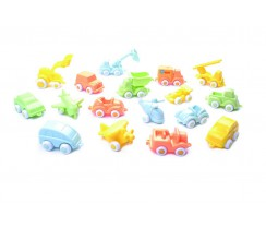 Vehicles de joguina de colors pastel - Mini Chubbies Bio