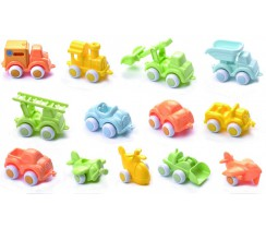 Vehicles de joguina de colors pastel - Chubbies Bio