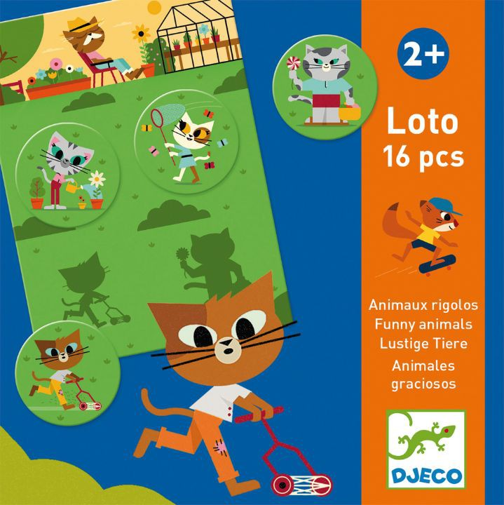 Loto d'animals divertits