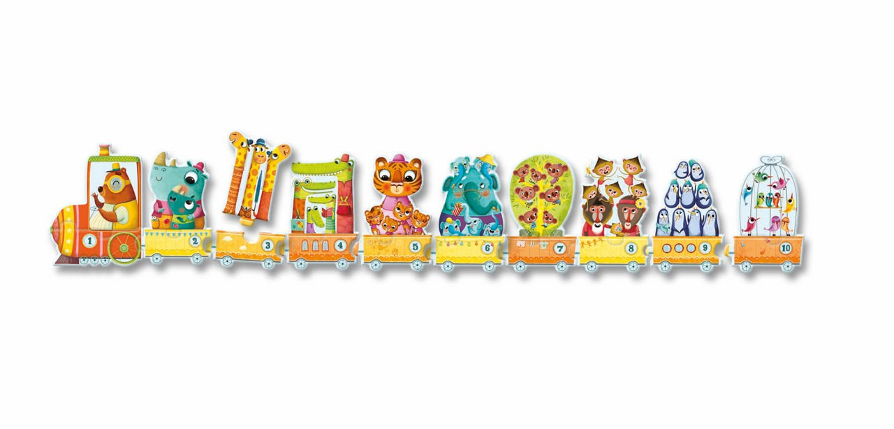 Puzle Duo - Tren d'Animals - 2 pcs