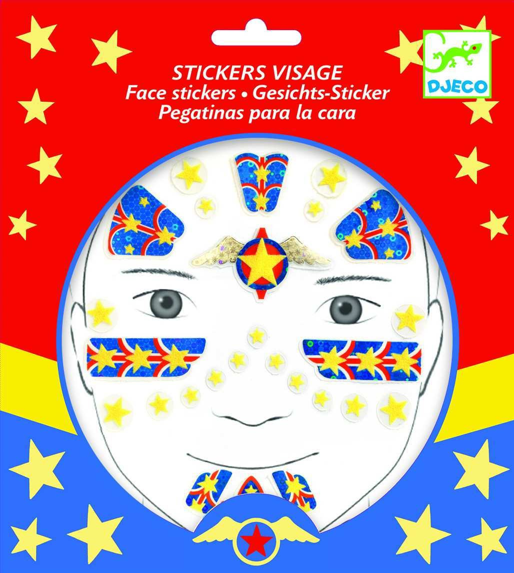 Stickers per la cara - Super Heroi
