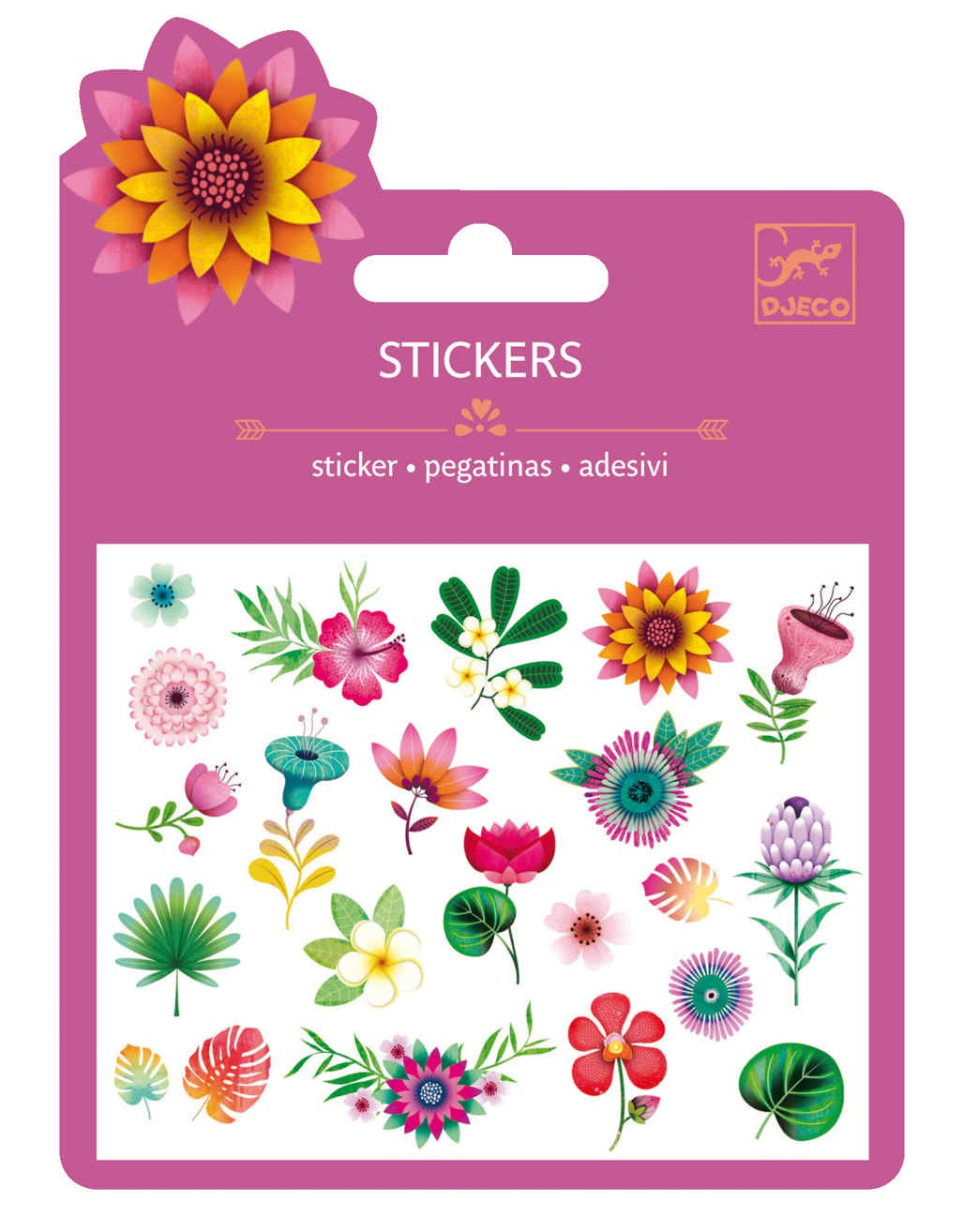 25 Stickers - Flors Tropicals