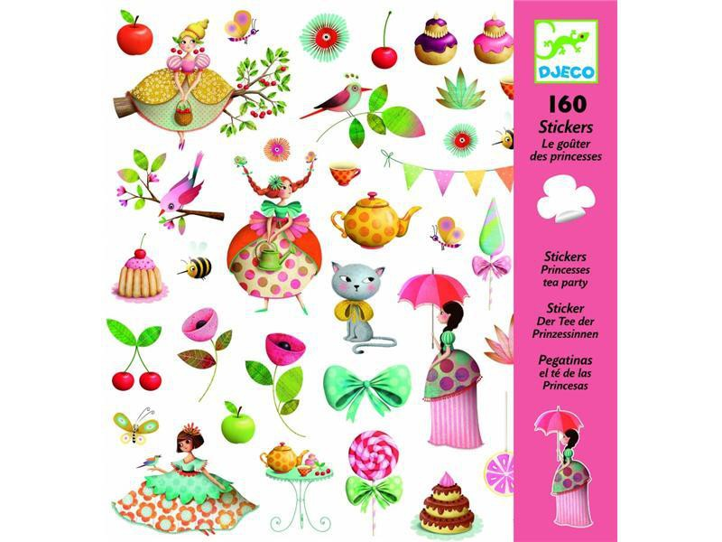 Stickers Te de les Princesas - 160 pcs