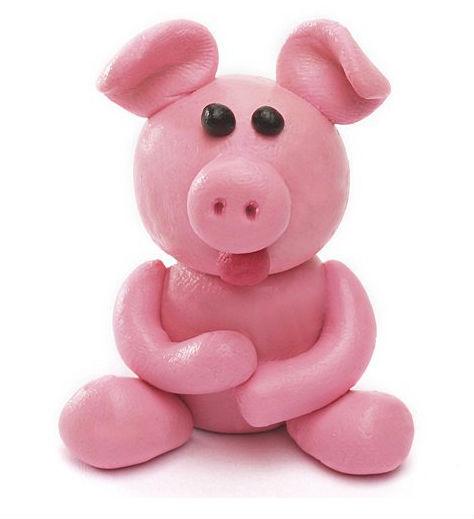 Cerdo de plastilina